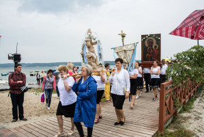 Kashubian lake procession