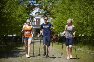 Cycling and Nordic walking