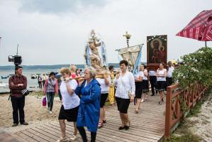Kashubian lake procession